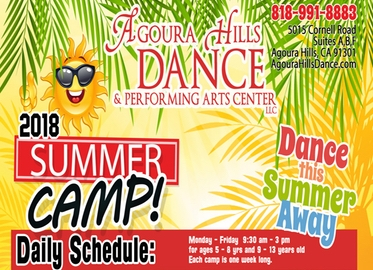 Summer Dance Camp! One Week of Dance Camp at Agoura Hills Dance For Ages 5-13 Just $99 (Value $385). May Purchase One Certificate Per Dancer.