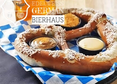 Edelweiss German Bierhaus and Restaurant! Authentic Bavarian Food, Beer, Wine, Oktoberfest Nights, Bottomless Mimosa Sunday Brunch! $40 Worth of Food and Drinks For Just $20!